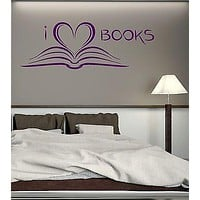 Wall Stickers Book Library Reading Bookworm Bookstore Art Mural Decal Unique Gift (ig2092)
