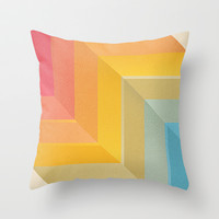 Back and Forth Throw Pillow by Tracie Andrews