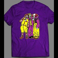 RONALD MCDONALD, JOKER, PENNYWISE KILLER CLOWN TRIO HALLOWEEN SHIRT