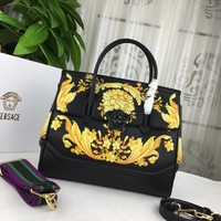 Top Quality Versace 7202 Women Leather Tote Bag Shoulder Bag Messenger Bag Shopping Bag