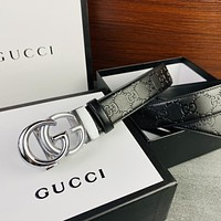Gucci hot sale classic personality GG buckle fashion men's and women's belt