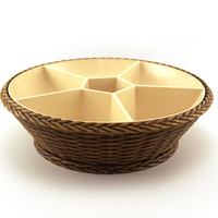 Emsa  Party-time, Plastic party snack bowl. Brown cream. Classic 1970's design. West Germany.
