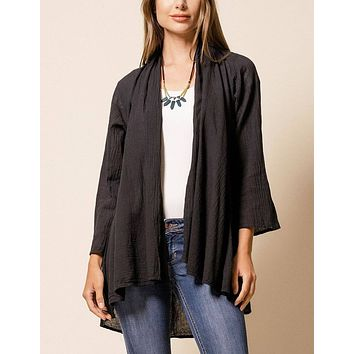 Brea Wrap Jacket - Black