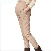 Women Maternity  Elastic Waist Pants/Stretch pants/Cotton pants = 1946139588