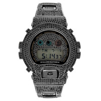 Black Iced Out G-Shock Watch Black Simulated Diamonds Digital Custom