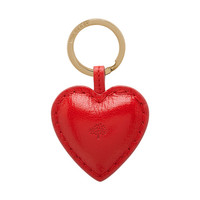 Heart Keyring in Bright Red Shiny Goat | What's New | Mulberry