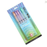 JetPens.com - Sakura Gelly Roll Silver Shadow Gel Pen - 1.0 mm - 5 Color Set