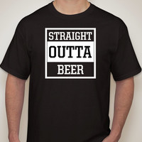STRAIGHT OUTTA BEER Men's T-shirt.Men's T-shirt. Men's clothing. Straight Outta shirt.Guy's Shirt.Humor. Funny shirt.