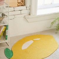 Printed Lemon Rug | Urban Outfitters