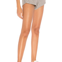 Chaser Love Knit Lace Up Short in Heather Grey