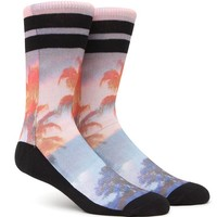 On The Byas Palm Effect Crew Socks - Mens Socks - Multi - One