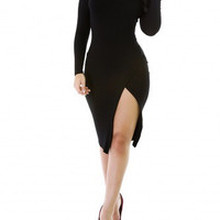 Sale* Knitted Up Midi Black