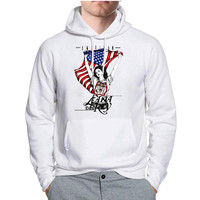 Lana Del Rey American Flag Poster Hoodie -tr3 Hoodies for Man and Woman
