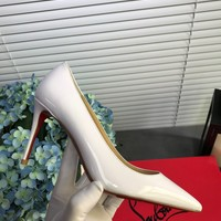 Hot Christian Louboutin Cl Kate Pumps White Heel Height 8.5cm