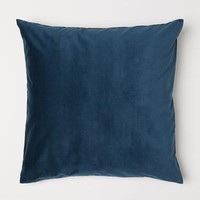 Cotton Velvet Cushion Cover - Teal - Home All   H&M US