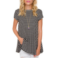 Sable Oversized Stripe Top