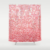 coral pink Shower Curtain by Ingz