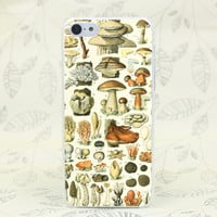 Alice's Vintage Mushroom Collection Case for iPhone 4 4s, 5 5s, 5C, SE, 6 6s, 6s Plus
