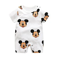 Cartoon Anime Short Newborn Baby Clothes Pure Cotton Summer Rompers Kids Baby Girl Jumpsuit Toddler Costume For Boys Romper