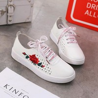 Comfort Embroidery Rose Summer Sneakers [11727403279]