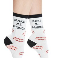 Arthur George by R. Kardashian 'Make Me Brunch' Graphic Crew Socks | Nordstrom