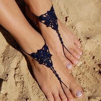 Barefoot Sandals, Beach Wedding Shoes, Wedding Accessories, Nude Shoes, Yoga socks, Foot Jewelry