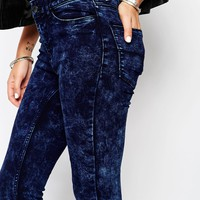Noisy May Extreme Lucy Skinny With Acid Wash