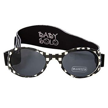 Black Buffalo Plaid Sunglasses for Your Precious Babe by Baby Solo