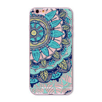 Blue floral Phone Case for iPhone 7 6 6s