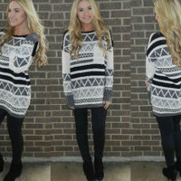 Frosted Nights Aztec Sweater