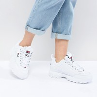 Fila Disruptor Trainers In White | ASOS