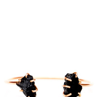 Black Tourmaline Double Cuff