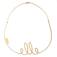 "BEN gold Necklace ""Elle"""