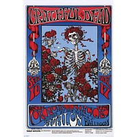 Grateful Dead Skeleton and Roses Family Dog Poster 24x36