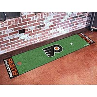 "Rugs NHL Philadelphia Flyers Putting Green Mat 18""x72"" Golf Accessories"