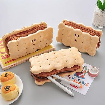 Cookie Soft Plush Pencil Case Gift