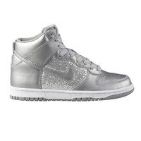 Womens Nike Dunk High Athletic Shoe, SilverWhite, at Journeys Shoes