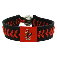 Gamewear MLB Leather Wrist Band - St. Louis Cardinals - Angry Bird  Black Band