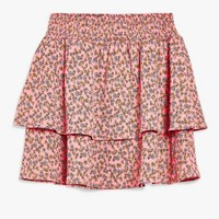 Daisy Print Shirred Mini Skirt | Topshop