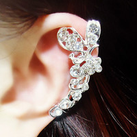 Butterfly and Blossom Wrapping Ear Cuff (Single,No Piercing)