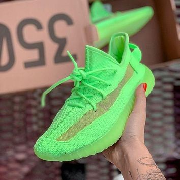 Bunchsun Adidas Yeezy Boost 350 V2 Fashion Women Men Running Casual Shoes Green