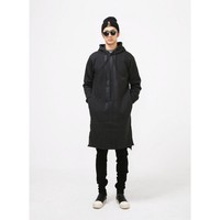 Mens Yamamoto Striped Extended Overlong Hoodie at Fabrixquare