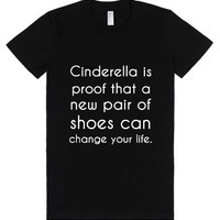 Cinderella is proof-Female Black T-Shirt
