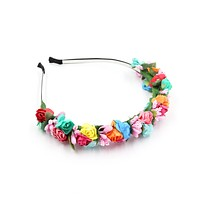 Blooms of Happiness Flower Crown in Vivid Florals