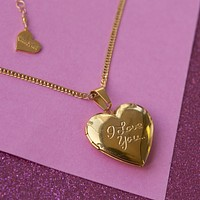 """I Love You"" Locket Necklace"