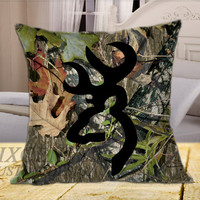 Browning Deer Camo on Square Pillow Cover