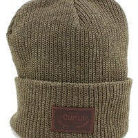 Cukui Eco Cotton Ribbed Beanie in Olive