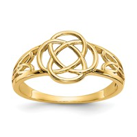14k Yellow Gold Polished Ladies Celtic Knot Ring