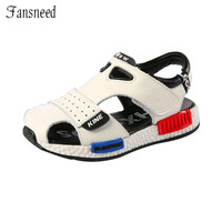 2017 Genuine Leather Sandals Male Toe Cap Covering Cowhide Kids Sandals Children Baby Toddler Shoes Boys Shoes For Girls