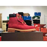 Atoms X Timberland Red Truck Boots